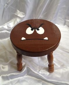 Mario Bros Goomba inspired side table