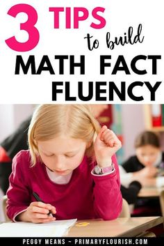 mprove math fact fluency among your students with these three tips. Find links to fun games and activities your elementary students are sure to enjoy, plus math strategy posters to serve as reminders and a few free games! {freebie, 1st, 2nd, 3rd grade} #teacher #teacherspayteachers #homeschool #students #additionfacts
