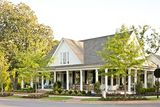 Farmhouse revival plan from Southern Living. This one has attic access through the closets
