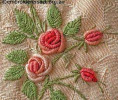 Embroidery bouillon rose