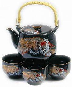 Dragon Japanese Tea Set. Please check out more teacups, teapots, and tea: Donna@teapots4u.com
