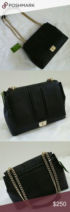 ♠kate spade parsons street haydee kate spade parsons street haydee Black pebbled leather with gold plated hardware Multiple ways to wear strap drop Snap closure Brand new and unused No trades Offers through Poshmark or add to bundle and ask for private offer kate spade Bags Shoulder Bags