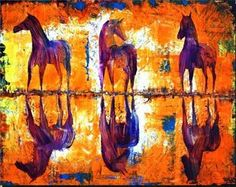 Horse on Water  Buy/Sell paintings and Art prints online at www.abstract4life.com  Find Art work that matches your style.  Rich collection of paintings and sketches.