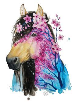 Animais e a natureza retratados em aquarela