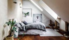 A gorgeous contemporary Scandinavian attic apartment
