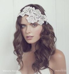 Crystal bridal headpiece | Viktoria Novak 2015 Bridal Couture Headpieces via /WorldofBridal/