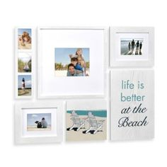Wallverbs Coastal Box Frame Set - BedBathandBeyond.com  $69.99 LETTERS ABOVE: HOME IS WHERE THE BEACH IS or LIFE IS GOOD AT THE BEACH