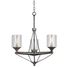 "Cresco Collection 24"" Wide Textured Steel Chandelier"