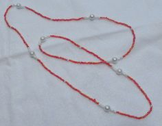 Pink Seed Bead Necklace by HillsideCreations on Etsy, $5.00