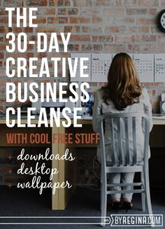 """I know the title of this post is pretty vague and you're out of guesses as to what it's about. I'm nothing if not mysterious, but I'll go ahead and clarify . . . this is a 30-day creative business cleanse in which you (cue suspenseful music: """"dun dun dunnnnnn"""") cleanse your creative business for …"""