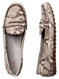 Gap | Animal print loafers