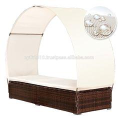 Vietnam muebles de ratán poli, cabina de bronceado, redonda de sol, muebles de jardín
