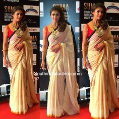 Nayanthara in a Khadi Saree at SIIMA Awards photo