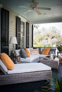 A Modern Lowcountry Porch Savannah Southernhomes Gardenandgun Photo Credit Imke L Patio Furniture Outdoorscreened