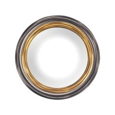 Barcelona Composite Frame Convex Wall Mirror In Belgian Black And Gold