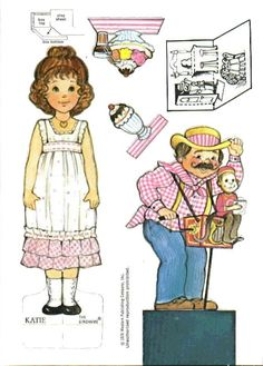 The Gingham Paper Doll Katie   (Katie's Ice Cream Parlor)