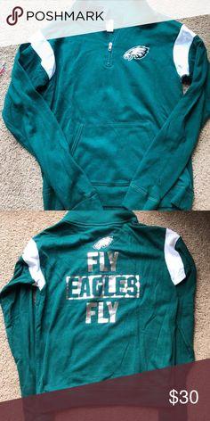 PINK NFL Eagles hoodie Worn once. Eagles hoodie PINK Victoria's Secret Tops Sweatshirts & Hoodies