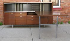 Walnut Desk & Credenza by George Nelson for Herman Miller image 3