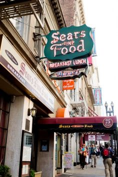 Sears Fine Food Restaurant-  Founded by an ex-circus clown. Good swedish pancakes.