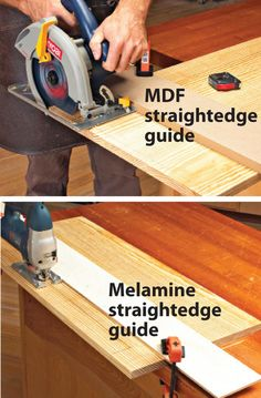 Been frustrated by poor-quality cuts using your portable power tools? Following these pointers will ensure wander-free machining and reduced tear-out. ■ Clamp a straightedge to the workpiece as a guide for the tool. You don't need a fancy guide—the factory-cut edge of a piece of MDF or melamine panel works great, as shown. ■ Use sharp, clean blades and bits. ■ Clamp a backer to the workpiece on the appropriate face to avoid chip-out. ■ Use a slow feed rate, but be careful not to go too…