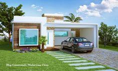 Fachadas de Casas Térreas Pequenas com Garagem! Fachadas de casas terreas Fachadas de casas Fachadas de casas modernas