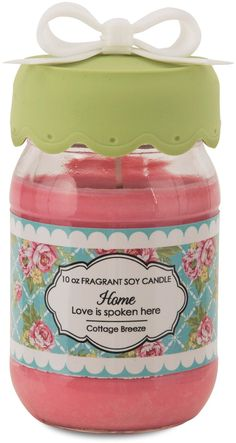 Home Love is Spoken Here Candle