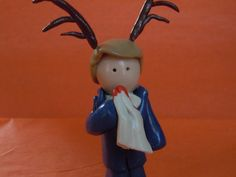 Hannibal with Stag Antlers Dr Lector Figure Polymer by laminartz