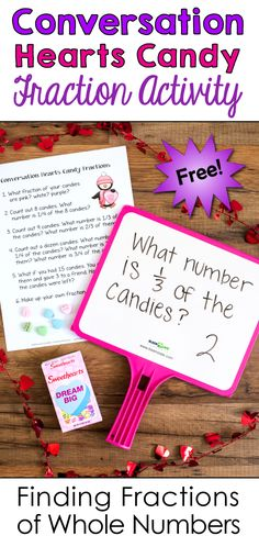 Your kids will love this fraction lesson that uses conversation hearts candy! The focus of the lesson is on finding fractions of a number. This lesson is one of many engaging activities in Laura Candler's February Fun Freebies pack!