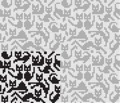Embroidery patterns cat cross stitch charts 30 Ideas for 2019 Chat Crochet, Crochet Chart, Filet Crochet, Knitting Charts, Knitting Stitches, Knitting Patterns, Cross Stitching, Cross Stitch Embroidery, Embroidery Patterns