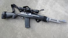 the Ruger with a few accessories would make a great all-around centerfire rifle in a survival or SHTF situation, if a centerfire rifle was needed. The round is inexpensive, plentiful, and ballistically similar to the Military Weapons, Weapons Guns, Guns And Ammo, Mini 14, Assault Rifle, Sks Rifle, Fire Powers, Home Defense, Hunting Rifles