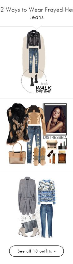 """""""12 Ways to Wear Frayed-Hem Jeans"""" by polyvore-editorial ❤ liked on Polyvore featuring waystowear, frayedhemjeans, Hollister Co., Acne Studios, chelseaboot, Calvin Klein, Christian Louboutin, adidas Originals, Wilsons Leather and NARS Cosmetics"""