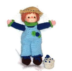 Blueberry Cupcake Small Yarn Doll  Made  With door amydscrochet