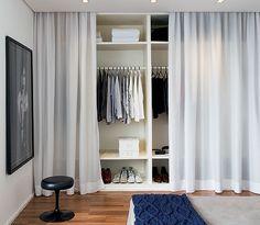 Curtain Closet With Curtains Door Wardrobe Doors Floor
