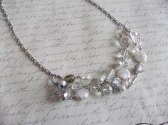 Collier multi-rangs de perles et verre par BijouxdeBrigitte sur Etsy
