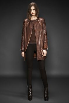 Love love this brown leather coat from J Brand