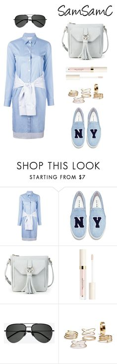"""""""Untitled #234"""" by samchoo ❤ liked on Polyvore featuring Maison Margiela, Joshua's, Sole Society and Yves Saint Laurent"""