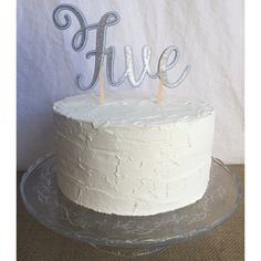 number cake topper glitter number cake topper cake by FalcoClan