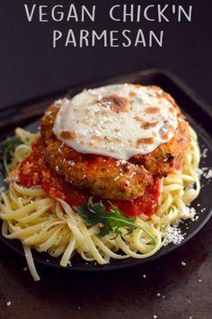 Vegan Chicken Parmesan - 4 Vegan Fried Chicken Recipes - High Protein Seitan - Wheat Meat - Soy Free - Rich Bitch Cooking Blog