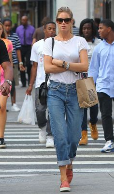 "runwayandbeauty: "" Doutzen Kroes - Street style "" http://afashionlines.tumblr.com/"