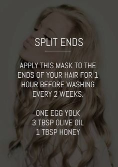 Prep for a weekend of healthy hair with this easy DIY split end mask!