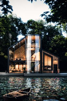 Loft House Design, Dream Home Design, Modern House Design, Architecture Design, Black House Exterior, Appartement Design, Luxury Homes Dream Houses, Amazing Buildings, Mansions Homes