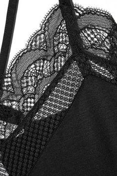 Hanro - Eleonora Lace-trimmed Modal And Silk-blend Jersey Pajama Set - Black - x small
