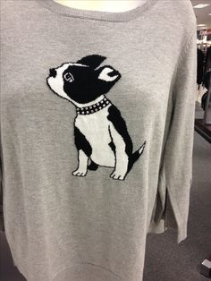 Cute Boston terrier sweater at kohls!