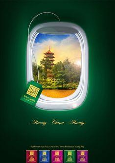 Rakhmet Royal Tea China Visual Advertising, Creative Advertising, Advertising Poster, Advertising Campaign, Advertising Design, Creative Poster Design, Ads Creative, Creative Posters, Social Media Banner