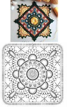 Mandala: Crochet Motifs...♥ Deniz ♥ by ginaska