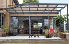 // by Make Architecture - the use of materials and transitions - sans open frame canopy