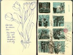I just get fonder and fonder of this little sketchbook! Downtown Knoxville, sketches from going to and from work on the weekend -- dated Sat...