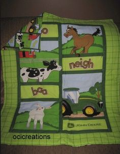 cute J. Deere quilt for baby boy