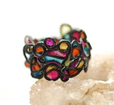 Beautiful ring. This would also be a gorgeous bracelet!
