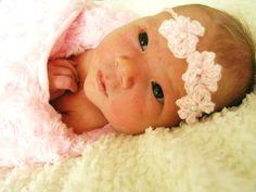 Sweet newborn crochet headband baby-love